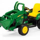Tractor electric 12V Ground Loader John Deere Peg Perego - Masinuta electrica copii Peg Perego, Verde