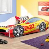 Patut pentru copii Drive 160 x 80 cm 10 (Galben cu Rosu 22 Sehell) Nobiko