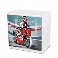 Comoda cu 3 sertare si polita birou 28 (Motociclist) Nobiko - Dulap copii