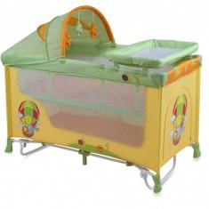 Patut pliant Nanny 2 Plus Rocker 120 x 60 cm Multicolor Ballon Lorelli - Patut pliant bebelusi Lorelli, Roz