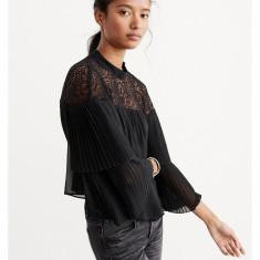 Bluza ABERCROMBIE FITCH - Bluze Dama, Femei - 100% AUTENTIC - Bluza dama, Marime: S, Culoare: Negru, Elegant, Poliester