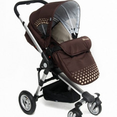 Carucior 3 in 1 Kraft Brown KinderKraft - Carucior copii 3 in 1