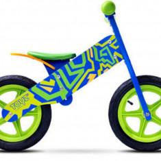 Bicicleta de lemn Zap Blue/Green Toyz - Bicicleta copii