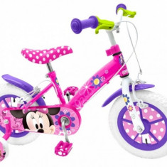 Bicicleta Minnie Mouse 14 inch Stamp - Bicicleta copii Stamp, 12 inch, Roz