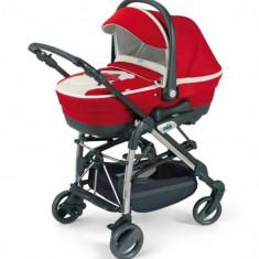 Sistem modular 3 in 1 Minu Teddy 887 377 (Red) Cam - Carucior copii 3 in 1 Cam, Rosu