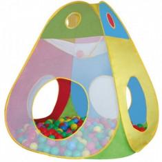 Cort de joaca cu 100 bile Brody Knorrtoys - Casuta copii Knorrtoys, Multicolor