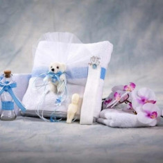 Trusou botez Collection Cute Teddybear Blue Nikos