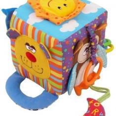 Cub cu activitati multiple Happy Animals - Jucarie zornaitoare