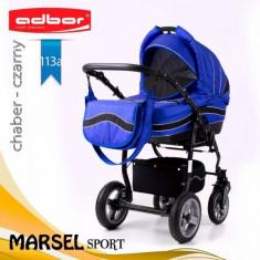 Carucior 3 in 1 Marsel Sport 113a (Albastru) Adbor - Carucior copii 3 in 1