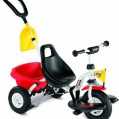 Tricicleta cu maner si lopatica 76 x 48 cm CAT 1SL Rosu Puky - Tricicleta copii