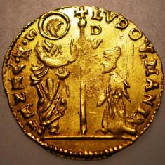 D.036 ITALIA VENEZIA VENETIA DOGE LUDOVICO MANIN 1 ZECCHINO 1789-1797 3, 5g AUR - Moneda Medievala, Europa