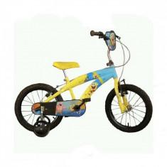 Bicicleta seria Spongebob 16 inch Dino Bikes - Bicicleta copii Dino Bikes, Galben
