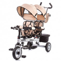 Tricicleta gemeni Chipolino Apollo Beige - Tricicleta copii