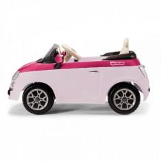 Masinuta 6 V Fiat 500 Pink / Fucsia Peg Perego - Masinuta electrica copii