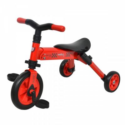 Tricicleta copii 2 in 1 B-Trike Rosu DHS foto