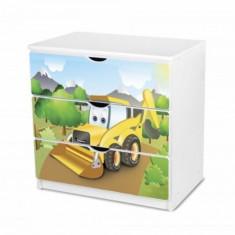 Comoda cu 3 sertare 37 (Excavator) Nobiko - Dulap copii