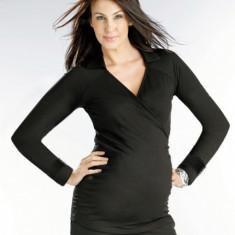 Bluza neagra cu decolteu V gravide Funmum XL FunMum - Bluza gravide