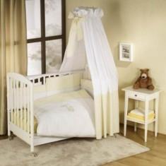 Set lenjerie de pat 5 piese Elefante Ecru Nino - Lenjerie pat copii