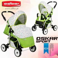 Carucior sport Oskar Sport K04 (Lime si Alb cu buline colorate) Adbor - Carucior copii Sport