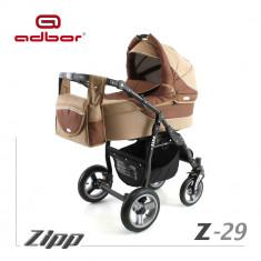 Carucior 2 in 1 Zipp Z-29 Cadru Negru Adbor - Carucior copii 2 in 1
