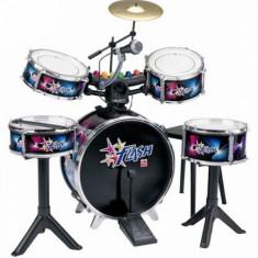 Set tobe baterie Flash cu lumini si microfon Reig Musicales - Instrumente muzicale copii