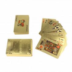 Carti de Joc Poker Aur/24K Gold/Waterproof Plastic/LIVRARE GRATUITA! - Carti poker
