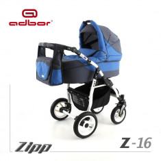 Carucior 2 in 1 Zipp Z-16 Cadru Alb Adbor - Carucior copii 2 in 1