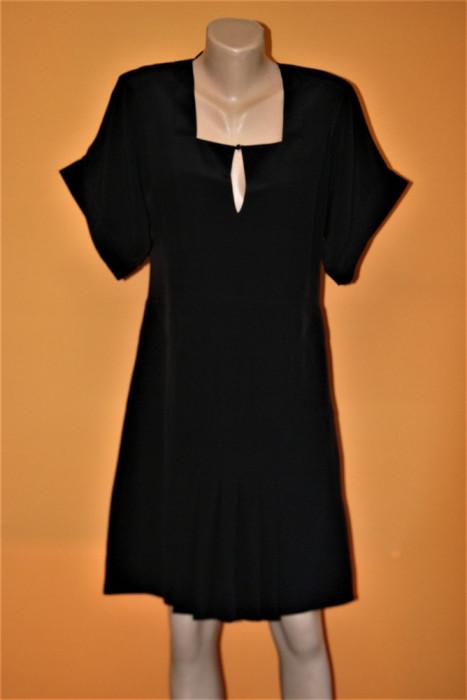 Rochie neagra din matase CHLOE 100%originala ,marimea 36