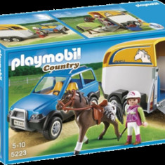 Masina cu remorca pentru cal Country Playmobil - Masinuta