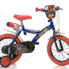Bicicleta seria Spiderman 14 inch Dino Bikes - Bicicleta copii Dino Bikes, Albastru