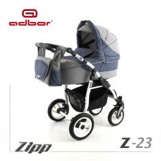 Carucior 2 in 1 Zipp Z-23 Cadru Alb Adbor - Carucior copii 2 in 1