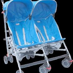 Carucior gemeni umbrela C - 110 Albastru Primii Pasi
