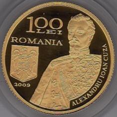 BNR 100 lei 2009 aur 6, 4 g Cuza 100 ani de la infiintarea Statului Major General - Moneda Romania