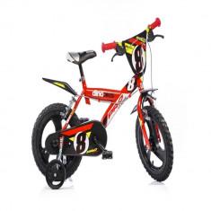 Bicicleta seria 23 16 inch Rosu Dino Bikes - Bicicleta copii