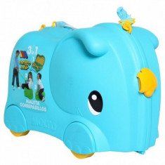 Valiza Ride-on Elephant 3 in 1 Albastru Molto - Vehicul