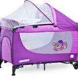 Patut pliant Grande cu vibratii 120 x 60 cm Purple Caretero - Patut pliant bebelusi