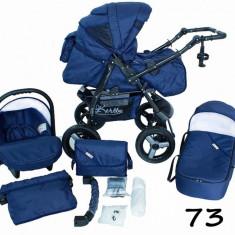 Carucior 3 in 1 Vip 73 (Albastru) Kerttu - Carucior copii 3 in 1