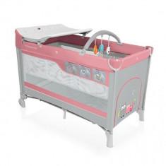 Patut pliabil Dream 120 x 60 cm Pink Baby Design - Patut pliant bebelusi