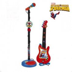 Set chitara si microfon Spiderman Reig Musicales - Instrumente muzicale copii