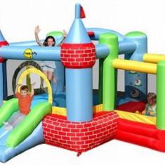 Saltea gonflabila Castel cu loc de joaca cu bile Happy Hop, Multicolor