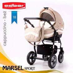 Carucior 3 in 1 Marsel Sport 18 (Bej) Adbor - Carucior copii 3 in 1