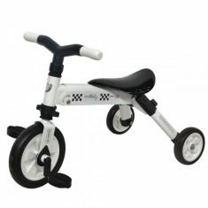 Tricicleta copii 2 in 1 B-Trike Alb DHS