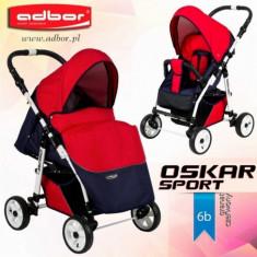 Carucior sport Oskar Sport 6b (Grafit cu Rosu) Adbor - Carucior copii Sport