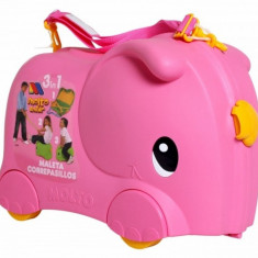 Valiza Ride-on Elephant 3 in 1 Roz Molto - Vehicul