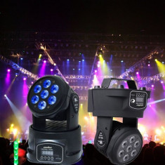 LICHIDARE STOC!MOVING HEAD PROFESIONAL 7LEDx10WATT, DMX512, AUTO, SUNET, STROBO, RGBW - Moving heads club