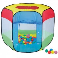 Cort de joaca cu 100 bile Bendix Knorrtoys - Casuta copii Knorrtoys, Multicolor