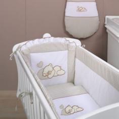 Laterala lunga universala Ursulet si Iepuras Crem Mamo-Tato - Lenjerie pat copii