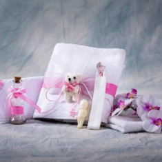 Trusou botez Collection Cute Teddybear Pink Nikos