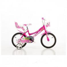 Bicicleta seria 26 14 inch Roz Dino Bikes - Bicicleta copii