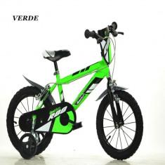 Bicicleta seria MTB 14 inch Verde Dino Bikes - Bicicleta copii
